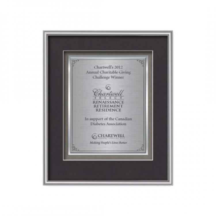 Fenestra Certificate TexEtch Vert - Silver