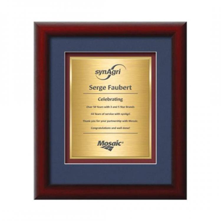 Eco Certificate TexEtch Vert - Mahogany