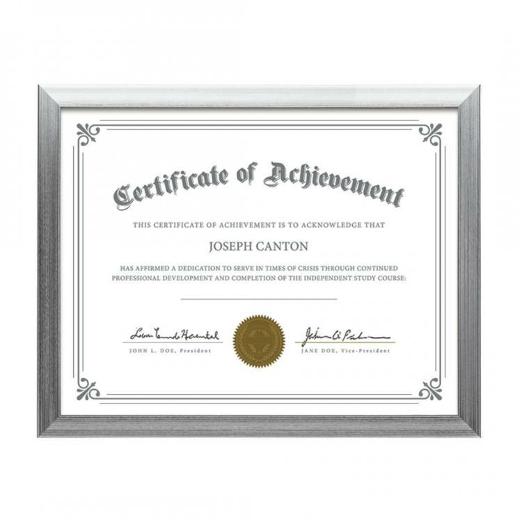 Certificate Frames | Calais Certificate Frame - Silver | PFN9141-S