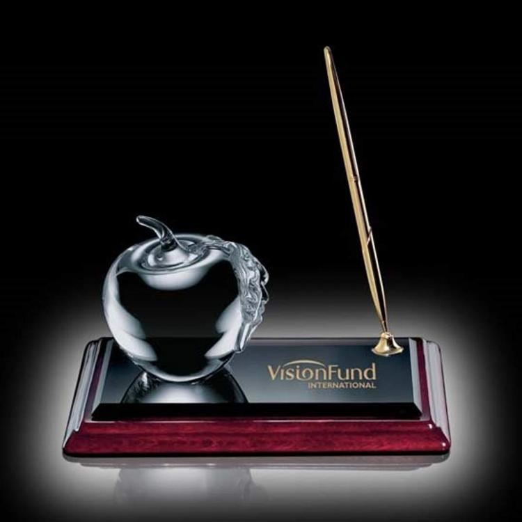 Apple on Albion Pen Set Gold