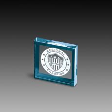 Custom Corporate Acrylic Awards - Beveled Square Acrylic Paperweights