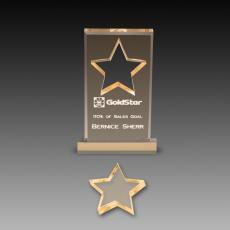 Custom Corporate Acrylic Awards - Star Cutout Acrylic Paperweights