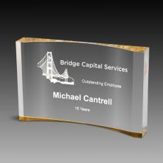 Custom Corporate Acrylic Awards - Crescent Award