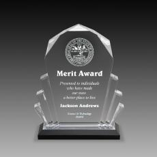 Custom Corporate Acrylic Awards - Diamond Impress Reflection Collection