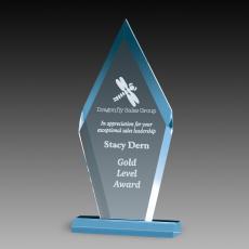 Custom Corporate Acrylic Awards - Premium Blue Diamond Acrylic Awards