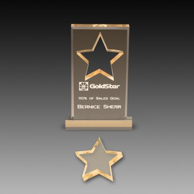 Star Cutout Acrylic Paperweights