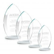 Custom-Engraved Crystal Awards - Windermere Award - White