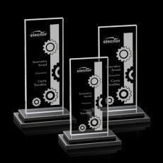 Custom-Engraved Crystal Awards - Santorini Award - Black