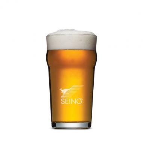 Burckhardt Beer Glass - Deep Etch