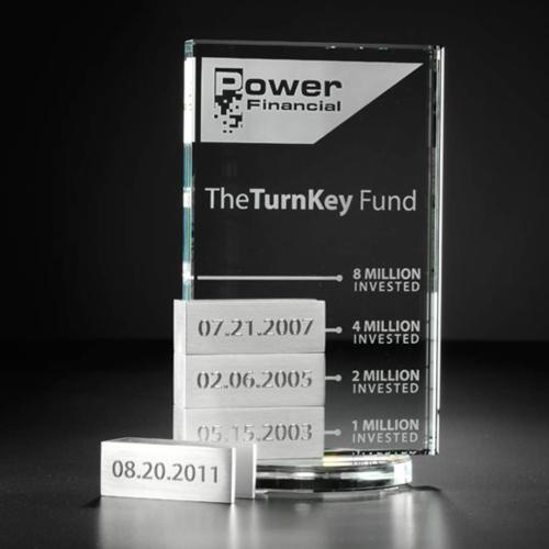 Vertical Tower Award w/4 Bars