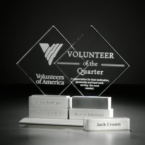 Diamond Tower Award w/4 Bars