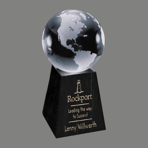 Globe Award on Tall Marble