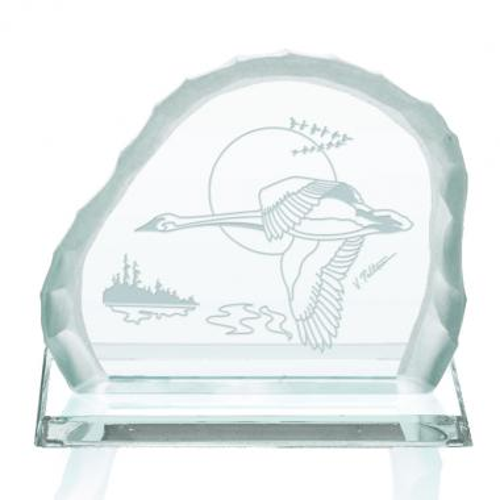 Geese In Flight Award on Base - Jade