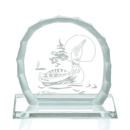 Crying Loon Award on Base - Jade