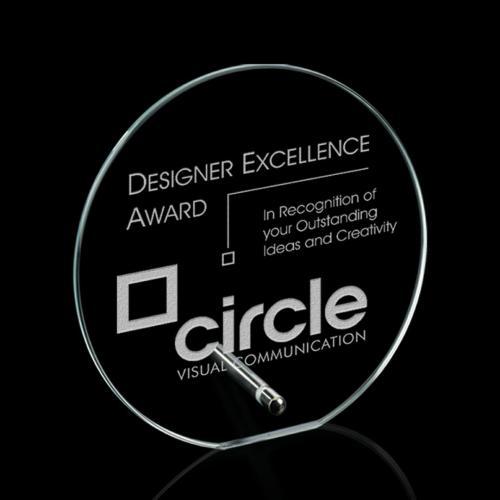 Windsor Circle Award - Starfire/Chrome