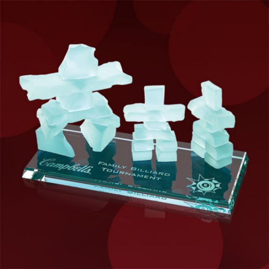 Inukshuk Family Award - Bevelled Jade Base