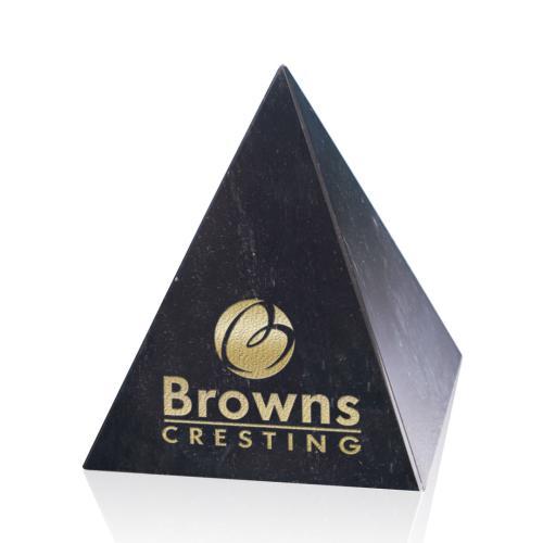 Marble Pyramid Award - Black