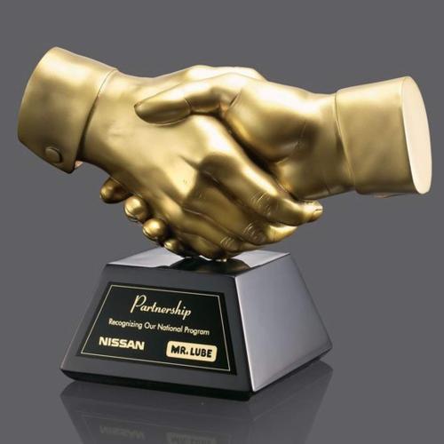 Shaking Hands Award - Gold