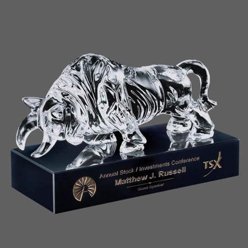Raging Bull Award on Black Base