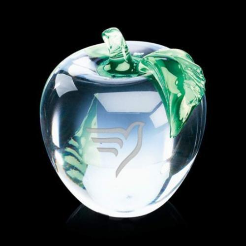 Apple with Green Leaf Award