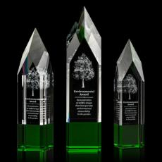 3D Crystal Awards with Laser Etching - Coventry Award - 3D