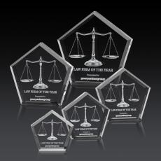 3D Crystal Awards with Laser Etching - Genosee Award - 3D