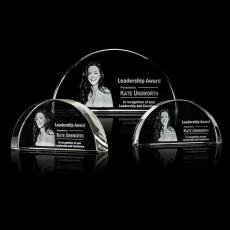 3D Crystal Awards with Laser Etching - Cheltenham Award - 3D
