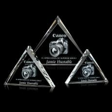 3D Crystal Awards with Laser Etching - Tideswell Award - 3D