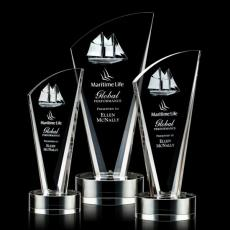 3D Crystal Awards with Laser Etching - Brampton Award - 3D