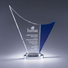 Custom-Engraved Crystal Awards - Wave