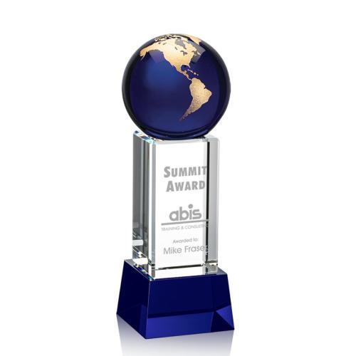 Luz Globe Award - Blue with Base