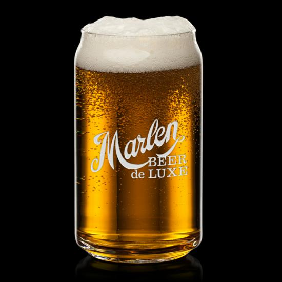 Beer Can Beer Glass - Deep Etch