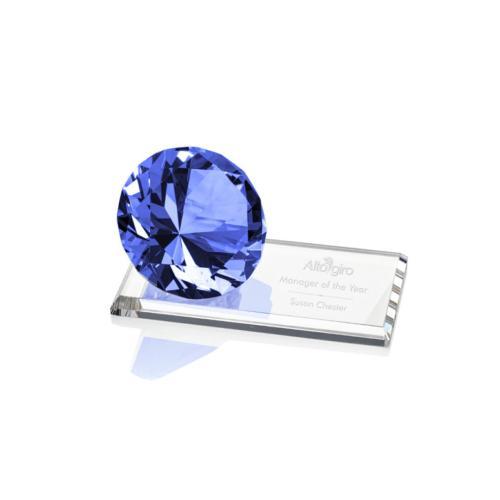 Gemstone Award on Starfire - Sapphire