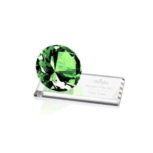 Gemstone Award on Starfire - Emerald