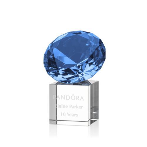 Gemstone Award on Cube - Sapphire