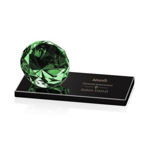 Gemstone Award on Black - Emerald