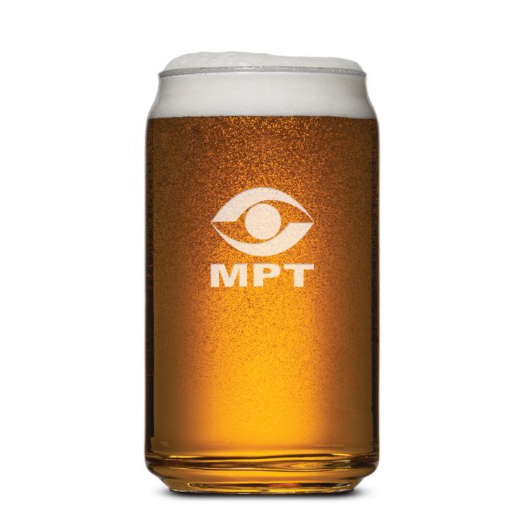 Beer Can Beer Glass - Deep Etch 16oz