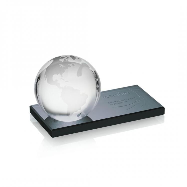 Globe Award on Black Base