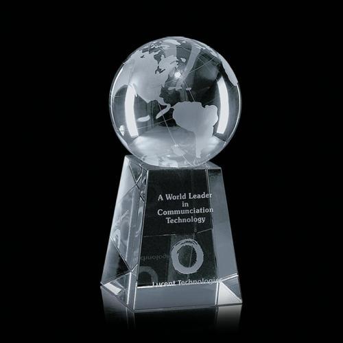 Globe Award on Tall Base