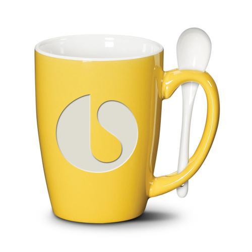 Winfield Mug & Spoon - Deep Etch 15oz