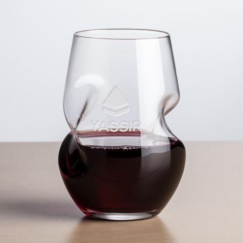 Tallandale Stemless Wine - Deep Etch 8oz