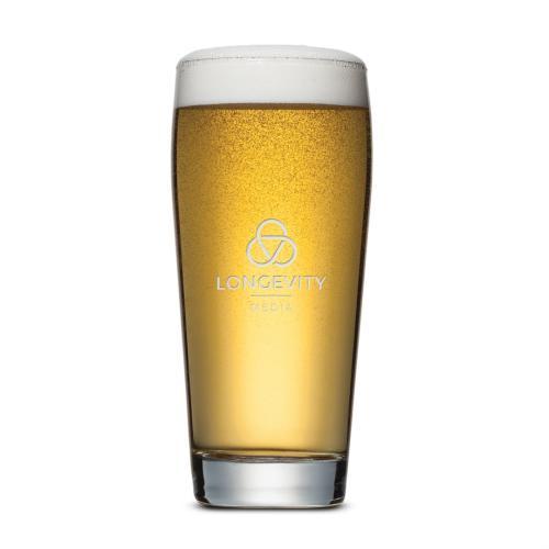 Wilmington Beer Glass - Deep Etch