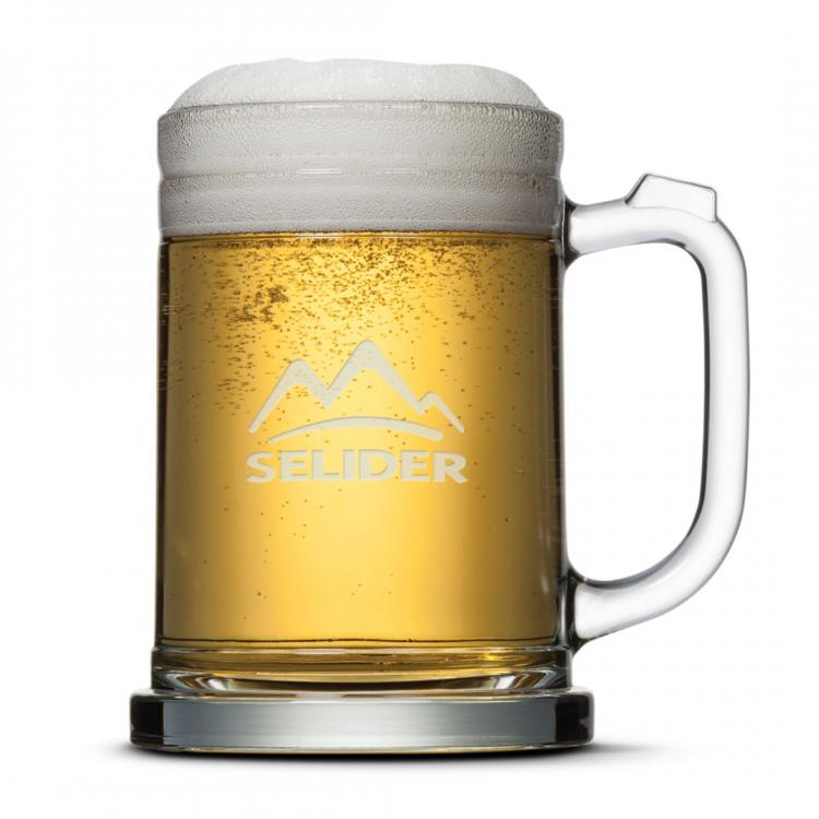 Raleigh Beer Stein - Deep Etch 16oz