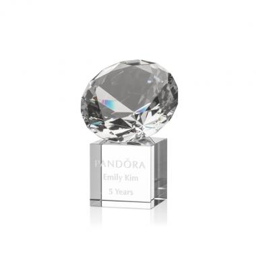 Gemstone Award on Cube - Diamond