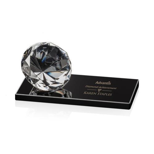 Gemstone Award on Black - Diamond