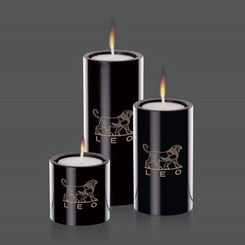Tissol  Candleholders - Black (Set of 3)