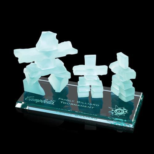 Inukshuk Family Award - Bevelled Jade Base