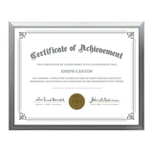 Calais Certificate Frame - Silver