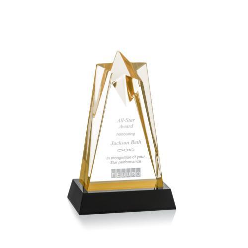 Rosina Star Award On Base - Gold