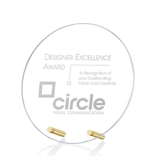 Cantebury Circle Award - Deep Etch